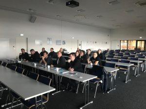 Vokietijoje Layher gamykloje įvyko pirmi Event grupės apmokymai 1