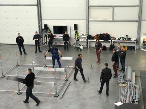 Vokietijoje Layher gamykloje įvyko pirmi Event grupės apmokymai 5