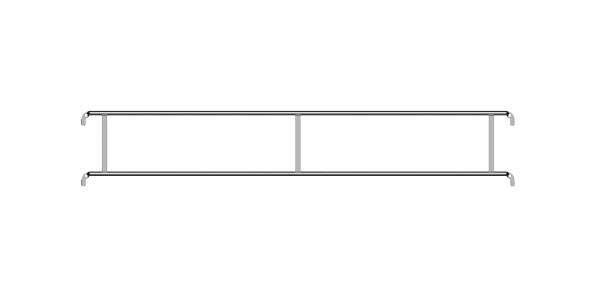 Dvigubas fasado apsauginis turėklas, plienas 1
